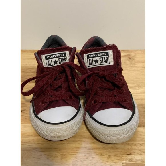 Burgundy Converse All Star Sneakers Size 12 Junior